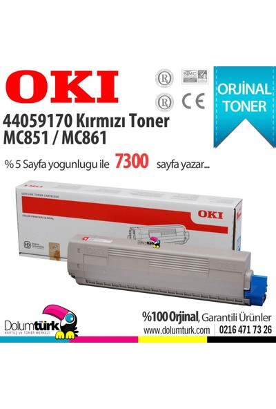 Oki 44059170 / MC851 / MC861 Kırmızı Orjinal Toner