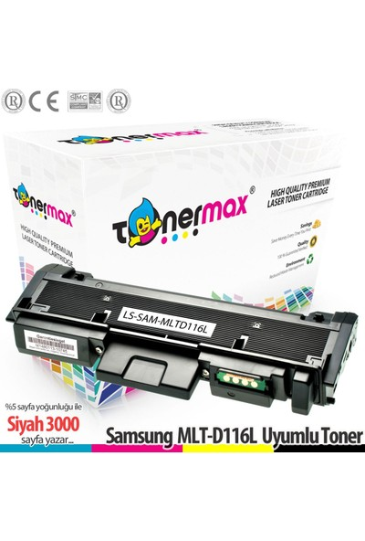 Toner Max® Samsung MLT-D116L / M2625 / M2626 / M2826 / M2876 / M2675 / M2825 / M2826 Muadil Toner