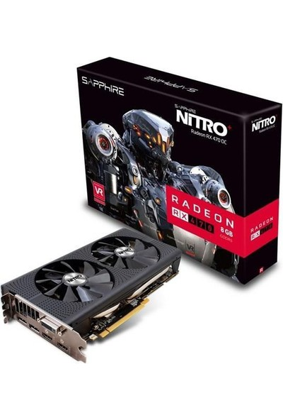 Sapphire Rx 470 Nitro+ Oc 8Gb 256B 11256-02-20G