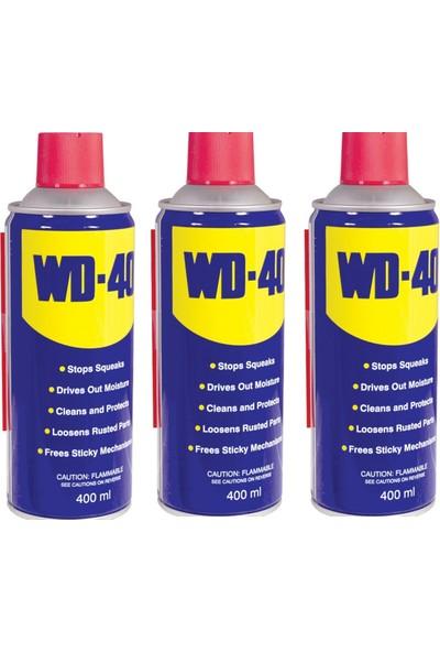 Wd-40 Çok Amaçlı Pas Sökücü 400 ml (3 Adet)