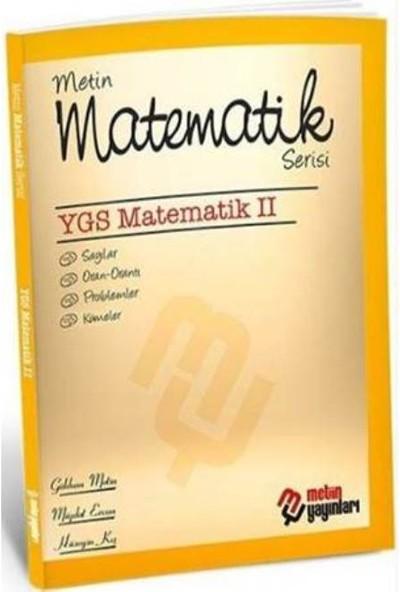 Metin Yayınları Matematik Serisi Ygs Matematik 2