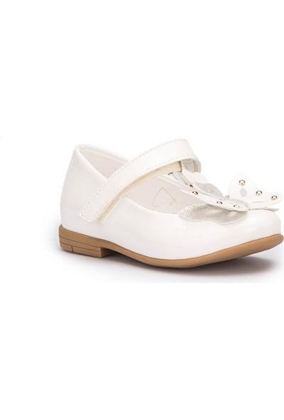 Pink Step Butterfly Beyaz Kız Çocuk Babet