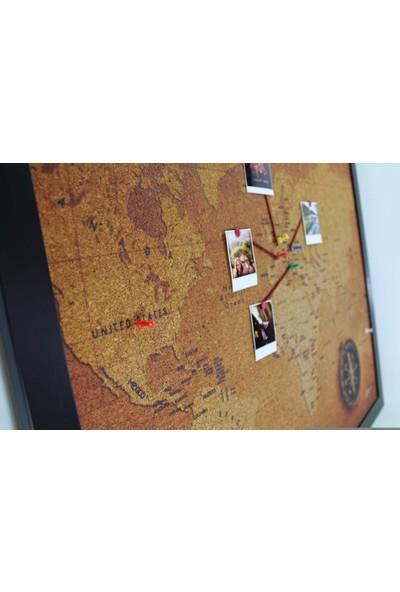 Mapofx Mantar Retro Dünya Haritası