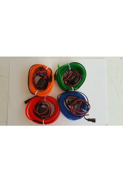 İp Neon İp Led Araç İçi İp Neon Torpido Neon Kırmızı Renk