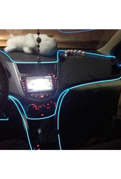 İp Neon İp Led Araç İçi İp Neon Torpido Mavi Renk Neon