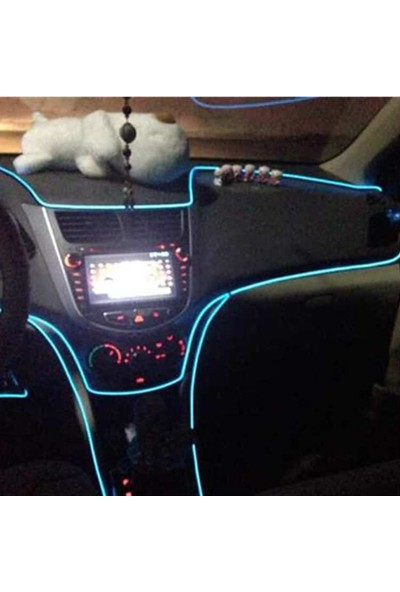 İp Neon İp Led Araç İçi İp Neon Torpido Neon Yeşil Renk