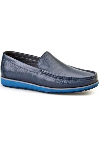 Cabani Loafer Günlük Erkek Ayakkabı Lacivert Floter Deri