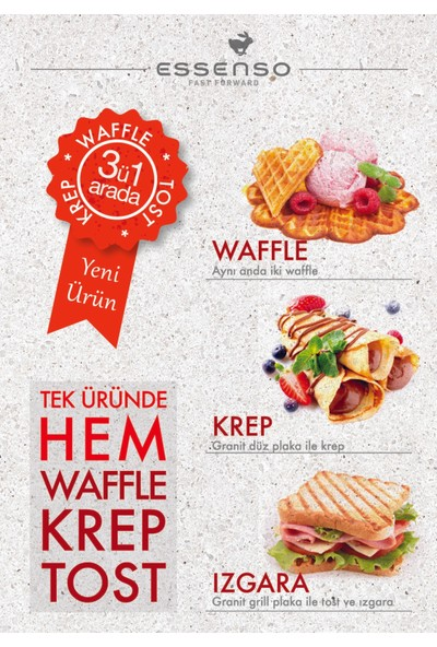 Essenso Waffle / Krep / Tost Makinesi