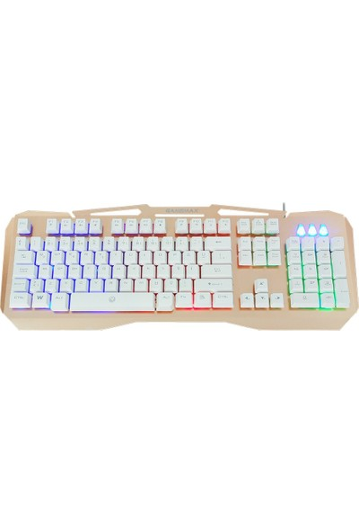 Gamemax FK-G520QU 3 Renk Işıklı Klavye USB Metal