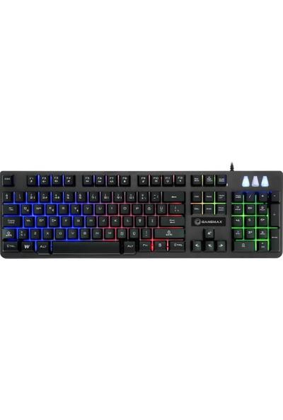 Gamemax FK-G530QU 3 Renk Işıklı Klavye USB Siyah