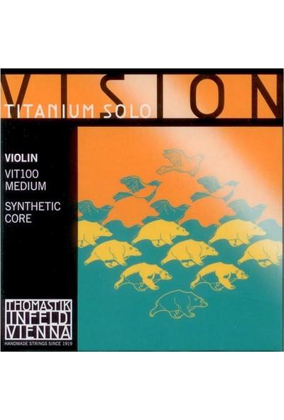 Thomastik Infeld VIT100 Vision Titanium Solo Keman Teli