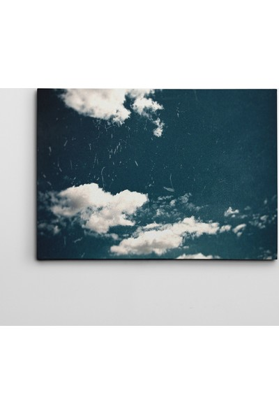 Dekolata Bulutlar Kanvas Tablo