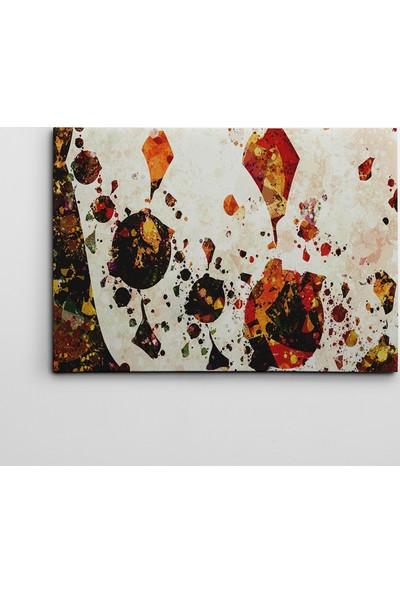 Dekolata Soyut Renkler Kanvas Tablo