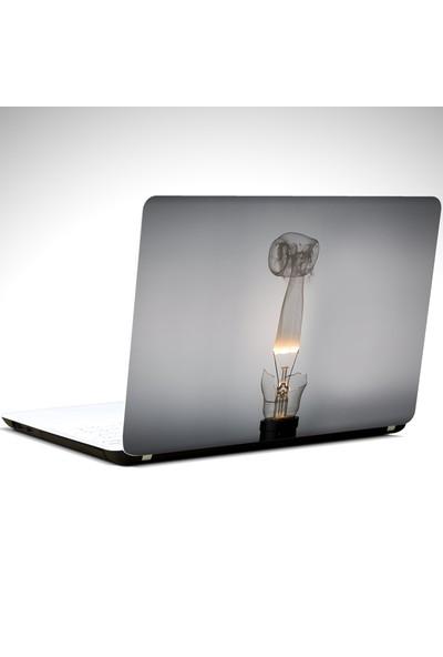 Dekolata Ampül ve Duman Laptop Sticker
