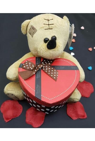 Toptancı Amca Öpücük Atan Ayıcıklı Sevgililer Günü Romantik Hediye Seti