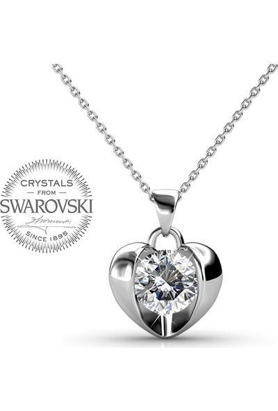 Monemel Swarovski® Kalp Kolye (Altın Kaplama) N0452
