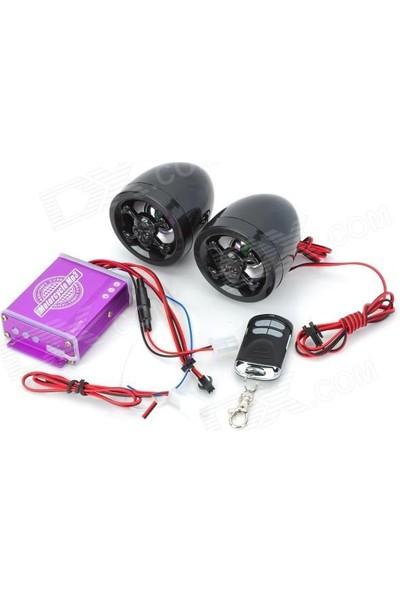 Tex Go 500 Ucz Motosiklet Müzik Sistemi Alarm Radyo Mp3 Çalar