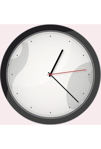 All Tasarım Duvar Saati Model Gri