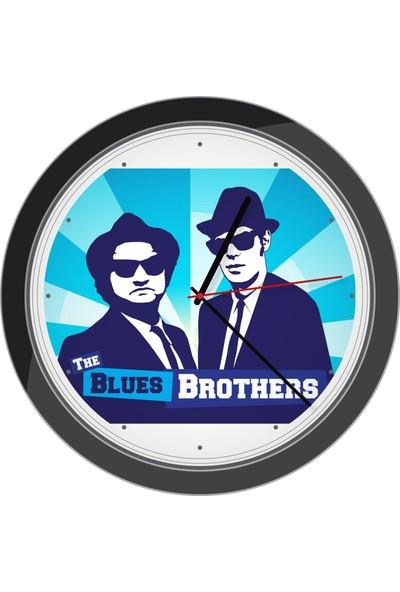 All Tasarım Duvar Saati Model Bluess