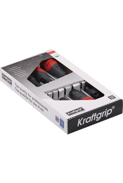 Kraftgrip Düz Uçlu Tornavida Takımı 8 Parça