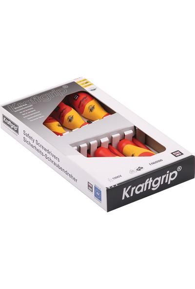 Kraftgrip 1000 V İzoleli Düz-Yıldız Tornavida Takımı 7 Parça