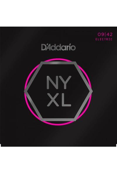 D'Addario NYXL0942 Nickel Wound Elektro Gitar Teli (9-42)
