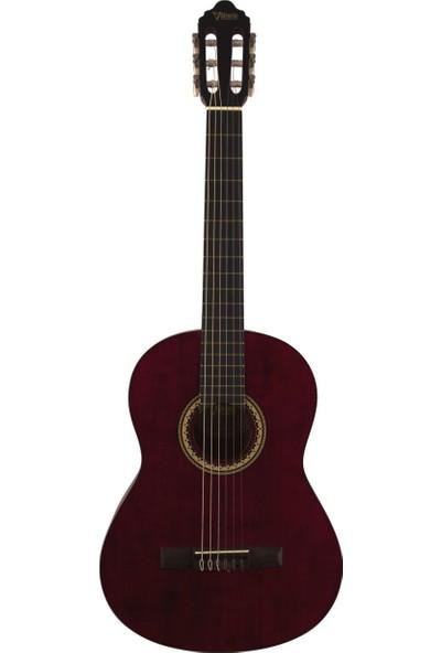 Valencia VC204TWR Bordo Klasik Gitar (Kılıf Hediyeli)