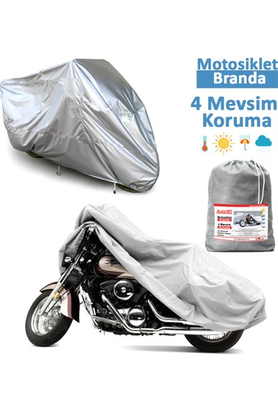 Autoen Çelik Motor 100cc Miflonlu Motosiklet Brandası,Örtü