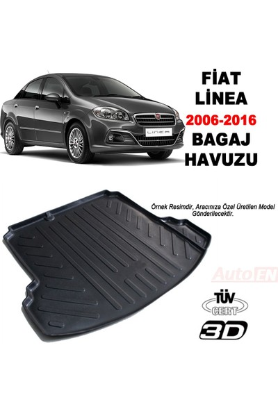 AutoEN Fiat Linea 3D Bagaj Havuzu