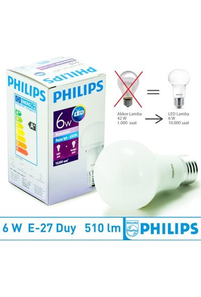 Philips Led Ampul E27 6W 6500K Beyaz Işık - 12 Adet