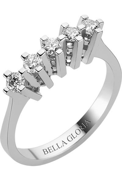 Bella Gloria 0,51ct Pırlanta Beştaş Alyans (AL15006)
