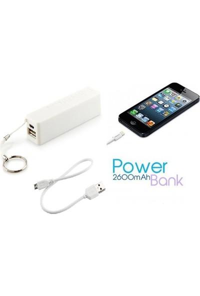 Pratik Power Bank Taşınabilir Şarj Cihazı (2600 mAh)