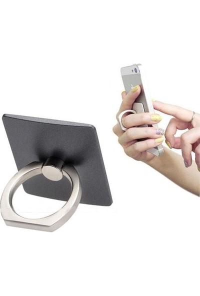 Pratik Yüzük Tasarım Telefon Tablet Tutucu + Telefon Askısı