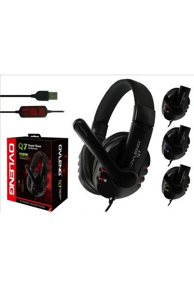 Pratik Ovleng Q7 Mikrofonlu Profesyonel USB Kulaklık
