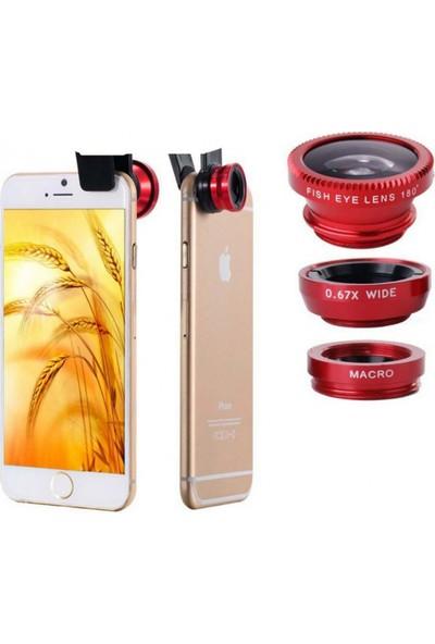 Kingboss Balık Gözü Geniş Açı Makro Lens Tüm Telefonlar İçin