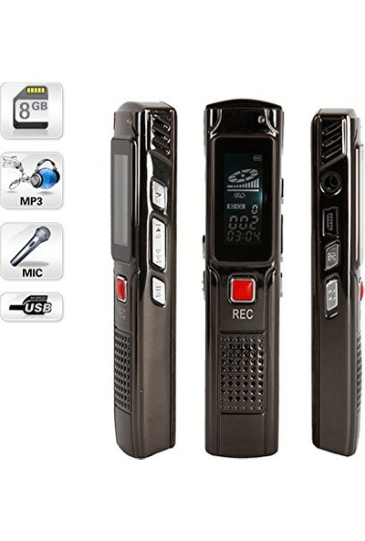 Kingboss Dijital Ses Kayıt Cihazı Mp3 Çalar Kingboss Profesyonel Ses Kayıt Cihazı 8 Gb