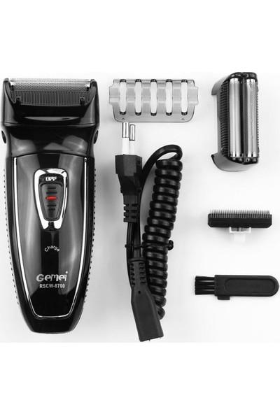 Gemei Çift Bıçak Şarjlı Tıraş Makinesi
