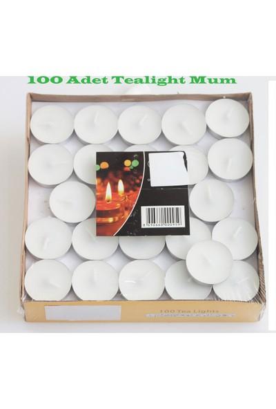 İkigünde Tealight Mum Beyaz 100 Adet