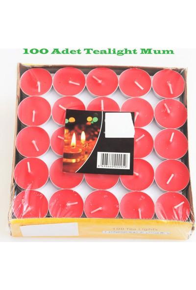 İkigünde Tealight Mum Kırmızı 100 adet