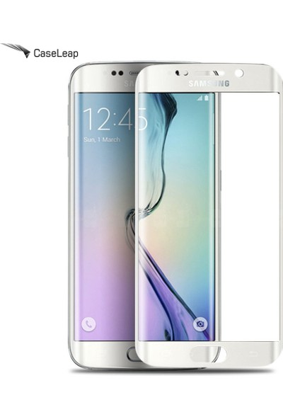 Case Leap Samsung Galaxy S7 Edge Ekran Koruyucu Full Koruma Silver