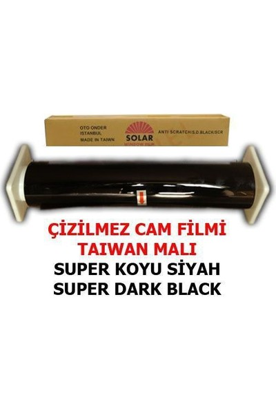 Tvet Cam Filmi Çizilmez %05 Süper Koyu Siyah ( Super Dark Black ) 100Cm * 60M