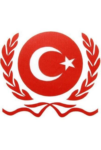Tvet Bordörlü Türk Bayrağı Oto Sticker (9Cm * 10Cm)