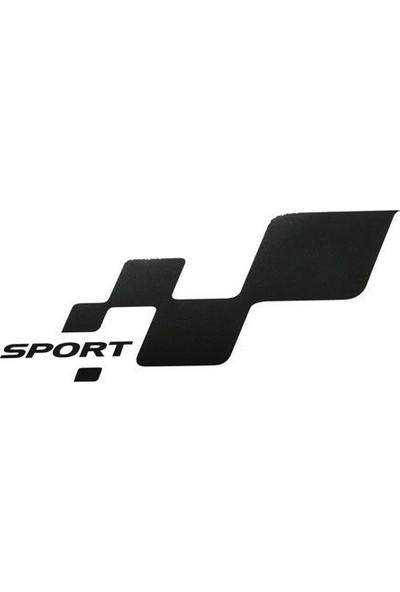 Tvet Sport Damalı Yazı Araba Oto Sticker (7Cm * 13,5Cm) 1 Takım 2 Adet