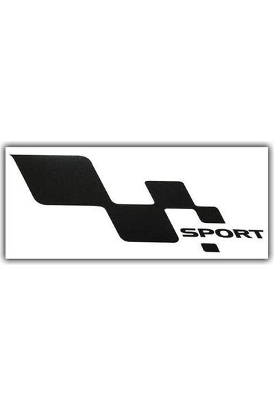 Tvet Sport Damalı Yazı Araba Oto Sticker Büyük ( 1 Takım / Sağ-Sol) ( 14Cm * 27Cm )