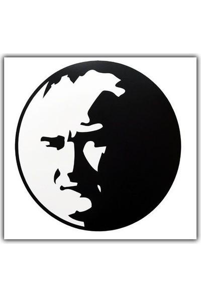 Tvet Atatürk Araba Oto Sticker Büyük ( 18,5Cm * 18,5Cm )