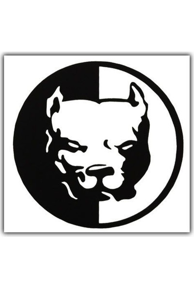 Tvet Pitbull Yazı Araba Oto Sticker ( 6Cm * 6Cm )