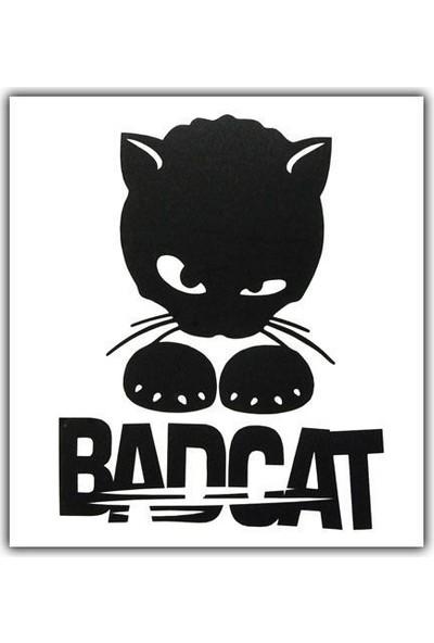 Tvet Bad Cat Kötü Kedi Yazı Araba Oto Sticker ( 10Cm * 12Cm )