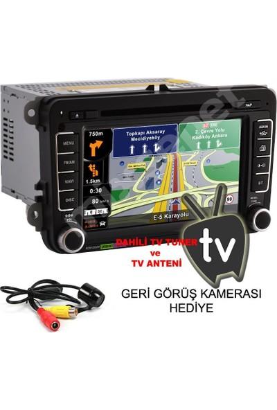 Tvet Caddy 2011 Navigasyon Dvd Multimedya Double Teyp