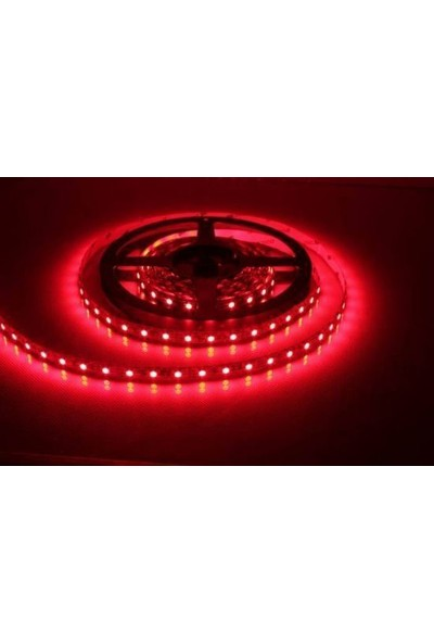 Tvet Şerit Led Dış Mekan 5 Metre Silikonlu 12 Volt Kırmızı