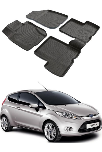 Modacar Ford Fiesta 2009 >> 3D Havuzlu Paspas 104953 6Lı Paket